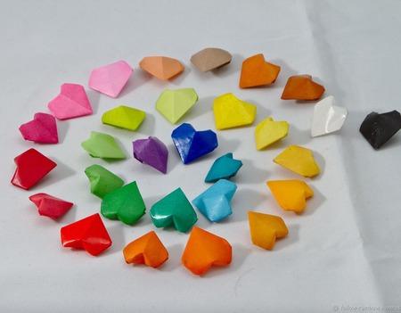 Банка с сердечками-оригами ручной работы на заказ