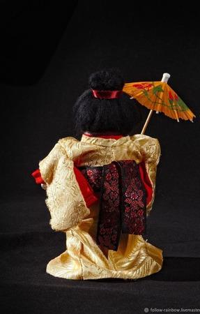 Кукла-гейша ручной работы на заказ