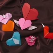 Валентинки-оригами