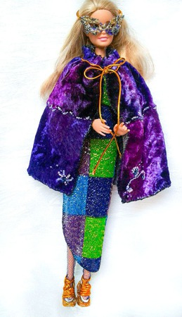 """Маскарад"" - новогодний наряд для барби ручной работы на заказ"