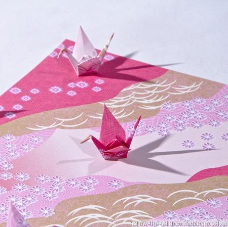 Узорные серьги с журавлики-оригами (8 видов расцветки) ручной работы на заказ
