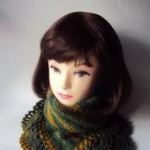 Манишка, шарф,снуд Зимняя находка (зеленый мультиколор)