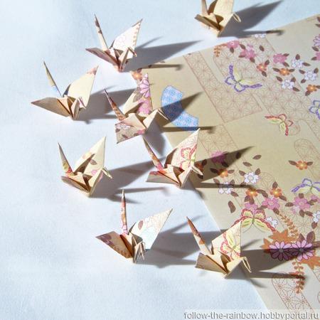Набор серьги/клипсы + кулон журавлики-оригами (8 видов расцветки) ручной работы на заказ