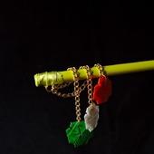 Шпильки с четырёхлистиниками клевера (ирландский триколор)