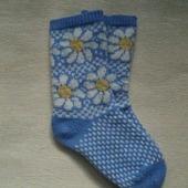 Носки с ромашками
