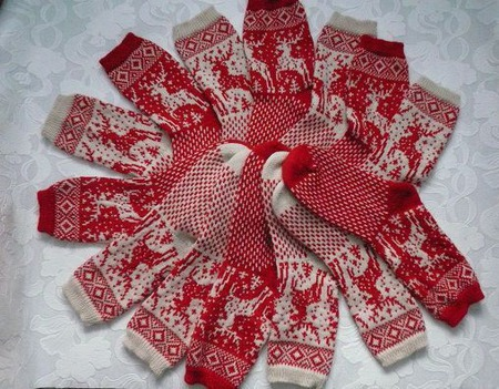 Носки с оленями ручной работы на заказ