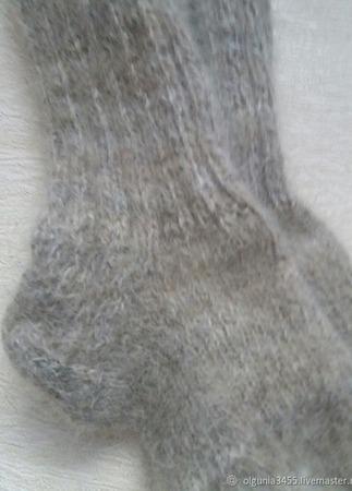 Носки из собачьего пуха ручной работы на заказ