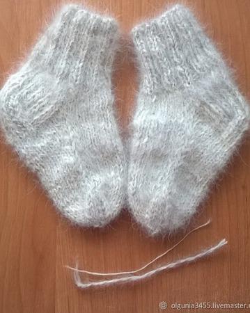 Носки из собачьего пуха детские ручной работы на заказ