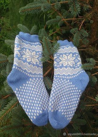 Носки скандинавский узор ручной работы на заказ