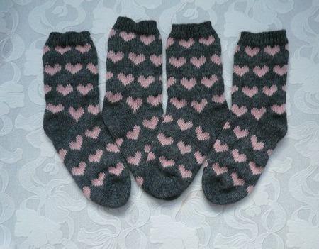 Носки с сердечками ручной работы на заказ