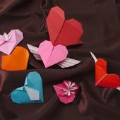 Валентинки-оригами, открытки-оригами