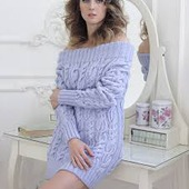 Вязаный свитер платье ручной работы в Москве