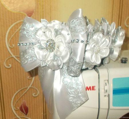 Резинка для волос (на шишку) ручной работы на заказ