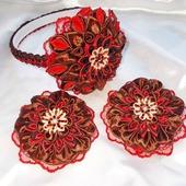 Комплект в красно-коричневых оттенках