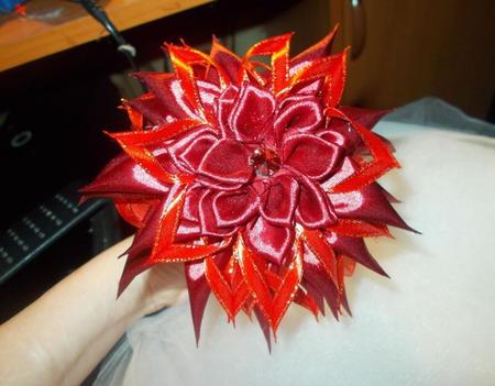 Ободок ярко красный ручной работы на заказ