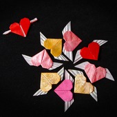 Украшения с сердечками-оригами