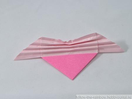 Украшения с сердечками-оригами ручной работы на заказ