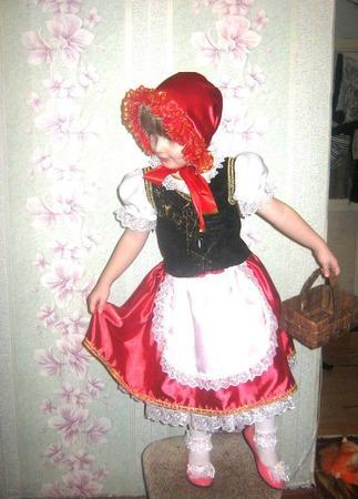 """Новогодний костюм """"Красная шапочка"""" ручной работы на заказ"""