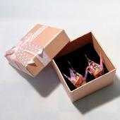 Узорные серьги с журавлики-оригами (8 видов расцветки)