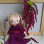 фото: Коллекционные куклы — куклы и игрушки (бархатное платье)