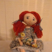 Текстильная кукла по мотивам фарфарлеток.