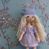 Текстильная кукла Девочка в голубом.