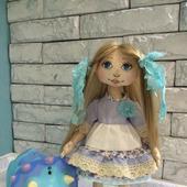 Текстильная кукла в бохо-стиле