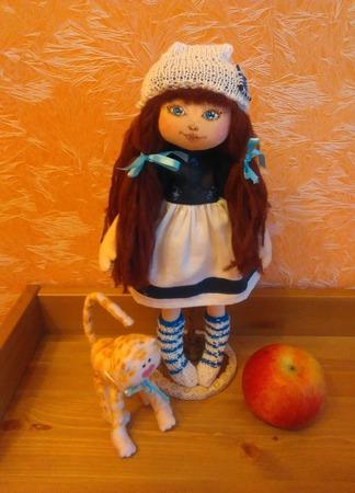 Текстильная кукла Морская девочка ручной работы на заказ