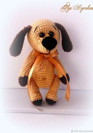 Собачка - символ года ручной работы на заказ