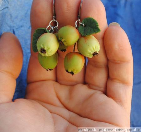 """Комплект украшений """"Сочное яблочко"""" ручной работы на заказ"""