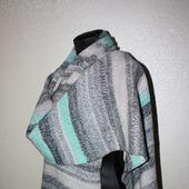 Большой теплый шарф в полоску