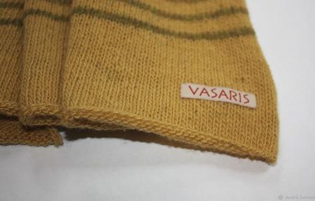 Полосатый шерстяной шарф ручной работы на заказ