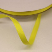 Лента репсовая однотонная желтая, 09 мм