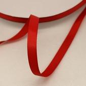 Лента репсовая однотонная красная, 09 мм
