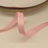 Лента репсовая однотонная розовая, 09 мм