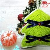 Вязаные ёлочки (подарочный набор).Цвет Зеленый