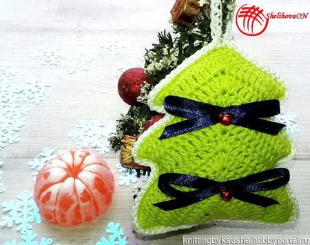 Вязаные ёлочки (подарочный набор).Цвет Зеленый ручной работы на заказ