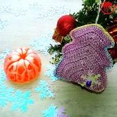 Вязаные ёлочки (подарочный набор).Цвет Розовый
