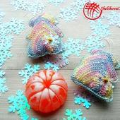 Вязаные ёлочки (подарочный набор).Цвет Меланж