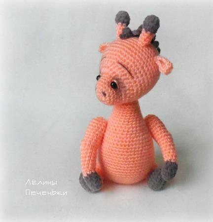 """Жирафик """"Малышок"""". Описание вязания ручной работы на заказ"""