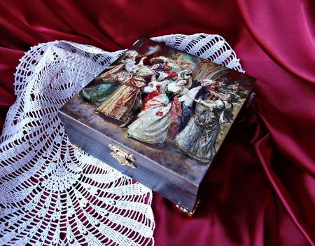 Набор декупажных шкатулок Галантный век. Шкатулка, купюрница в подарок ручной работы на заказ