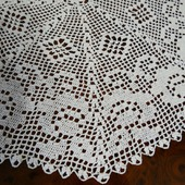 Декоративная салфетка Белые розы. Аксессуар для дома крючком