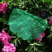 Декоративная салфетка Папоротник вязанная крючком. Аксессуар для дома