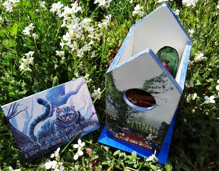 Чайный домик по мотивам Алиса в стране чудес. Декупаж чайного домика ручной работы на заказ