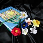 фото: Канцелярские товары (закладка роза колокольчик)