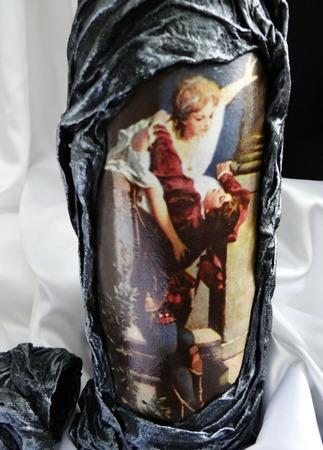Декупаж бутылки Ромео и Джульетта ручной работы на заказ