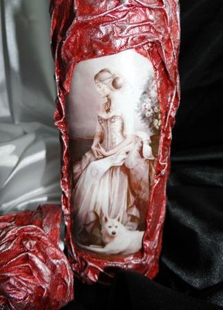 Декор бутылки Дама в бежевом. Подарочное оформление ручной работы на заказ