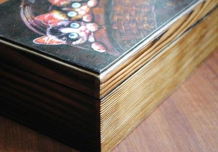 Шкатулка для хранения Котята Шалуны в корзинке ручной работы на заказ