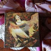 Шкатулка для хранения Птица Гамаюн. Райская птица из сказок.