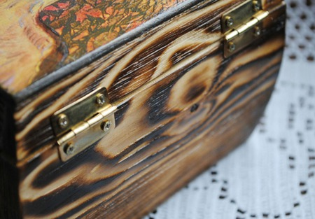 Шкатулка для хранения Птица Гамаюн. Райская птица из сказок. ручной работы на заказ